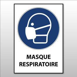 """Panneau d'obligation ISO EN 7010 """"Masque respiratoire"""" M016"""