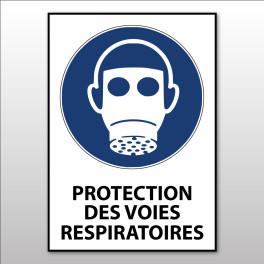 """Panneau d'obligation ISO EN 7010 """"Protection des voies respiratoires obligatoire"""" M017"""