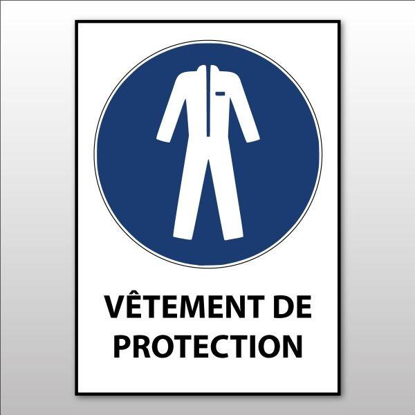 """Panneau d'obligation ISO EN 7010 """"Vêtements de protection obligatoires"""" M010"""
