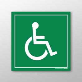 """Panneau en PVC """"Symbole Handicapé"""" - 200 x 200mm"""