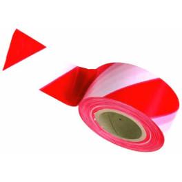 Ruban de signalisation - Haute qualité - Rouge / Blanc