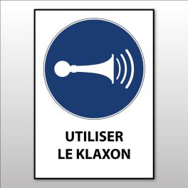 """Panneau d'Obligation ISO 7010 """"Utiliser le Klaxon"""" M029 - Vinyle - A5"""