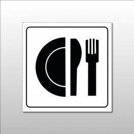 "Pictogramme ""Restaurant"" en Gravoply"