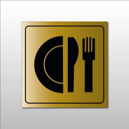 """Pictogramme """"Restaurant"""" en Metallex"""