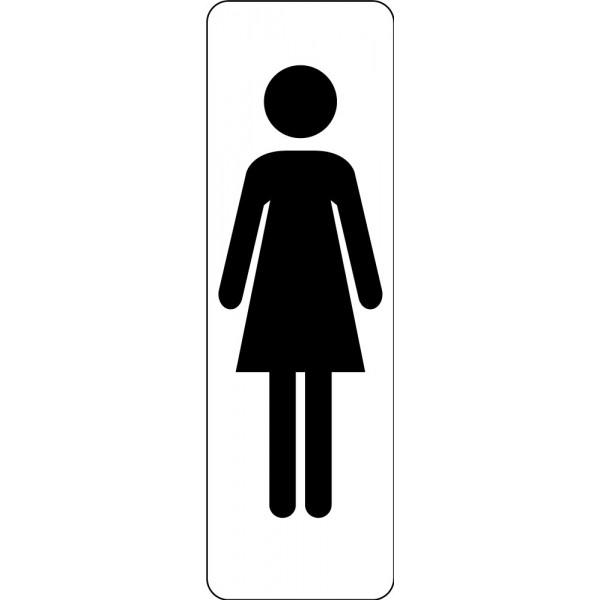 Panneau de Signalétique Silhouette Femme WC