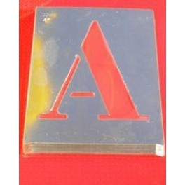 """Pochoir en Aluminium """"Lettres et Chiffres"""""""