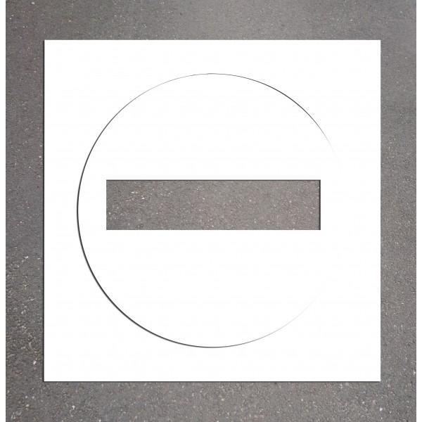 "Pochoir PVC ""Sens interdit"" 800 x 800 mm"