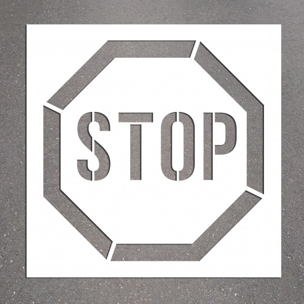 "Pochoir PVC ""STOP"" 600 x 600 mm"