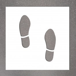 """Pochoir PVC """" Empreintes de pieds"""" 500 x 400 mm"""