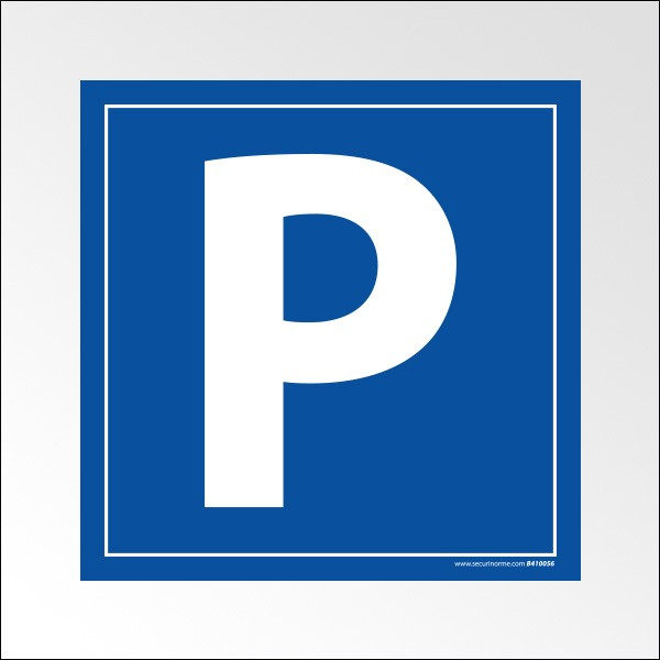 exemple de panneau place de parking