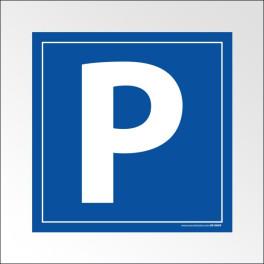 [ATTENTE VISUEL] Panneau Parking Lettre P en dibond