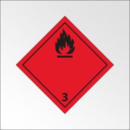 "Signalisation de transport normalisée ADR - ""Liquides inflammables"""