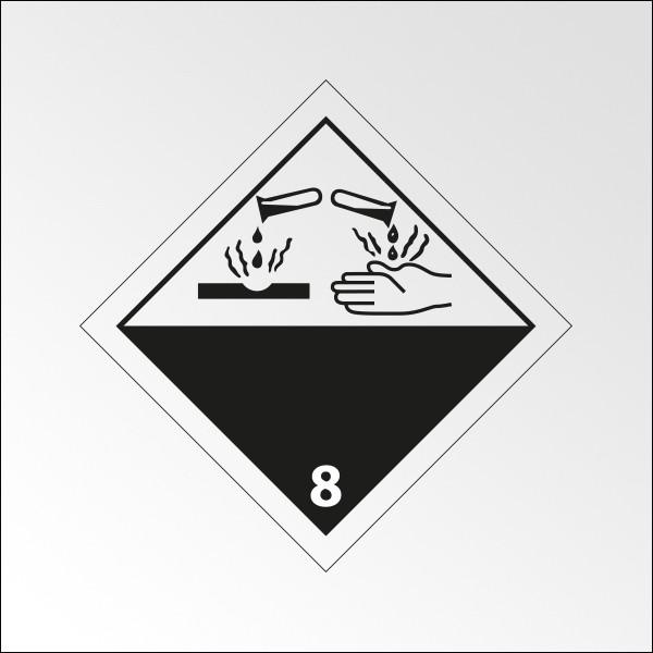 "Signalisation de transport normalisée ADR - ""Matières corrosives"""