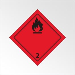 """Signalisation de transport normalisée ADR - """"Gaz inflammables"""""""