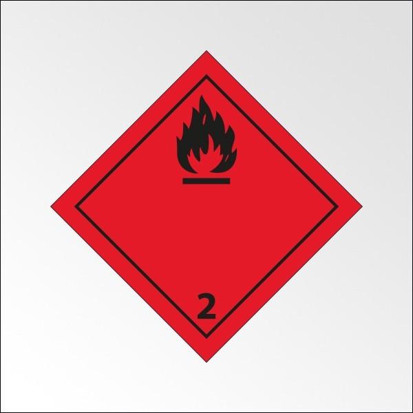 """[ATTENTE VISUELS] Signalisation de transport normalisée ADR - """"Gaz inflammables"""""""