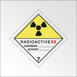 "Signalisation de transport normalisée ADR - ""Matières radioactives, catégorie II"""