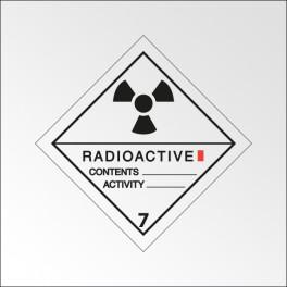 """[ATTENTE VISUELS] Signalisation de transport normalisée ADR - """"Matières radioactives, catégorie I"""""""
