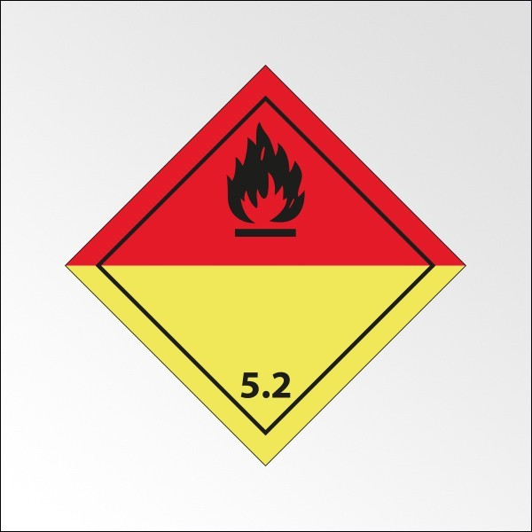 "Signalisation de transport normalisée ADR - ""Peroxydes organiques"""