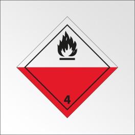 """Signalisation de transport normalisée ADR - """"Spontanément inflammable"""""""