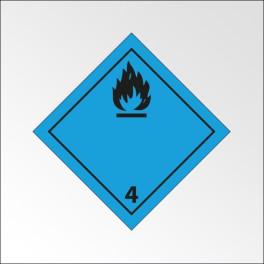 """[ATTENTE VISUELS] Signalisation de transport normalisée ADR - """"Dégage du gaz inflammable au contact de l'eau"""""""