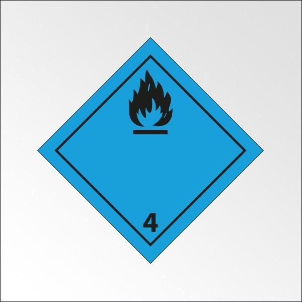 """Signalisation de transport normalisée ADR - """"Dégage du gaz inflammable au contact de l'eau"""""""