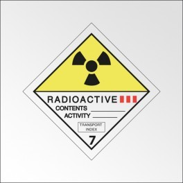 "Signalisation de transport normalisée ADR - ""Matières radioactives, catégorie III"""