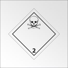 """Signalisation de transport normalisée ADR - """"Gaz toxiques"""""""