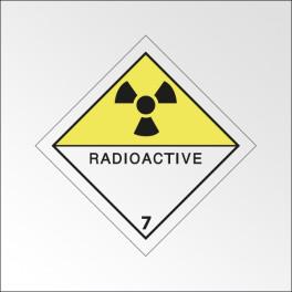 "Signalisation de transport normalisée ADR - ""Matières radioactives"""