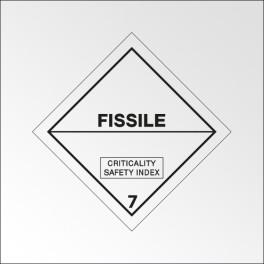 """Signalisation de transport normalisée ADR - """"Fissile"""""""