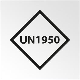 """[ATTENTE VISUELS] Signalisation de transport normalisée - """"UN..."""" - Vinyle adhésif - 100 x 100 mm"""