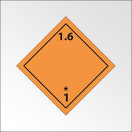 """Signalisation de transport normalisée ADR - """"Matières et objets explosifs n°1-6"""""""