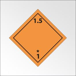 """[ATTENTE VISUELS] Signalisation de transport normalisée ADR - """"Matières et objets explosifs n°1-5"""""""