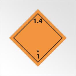 Signalisation de transport normalisée ADR - Matières et objets explosifs ADR 1.4