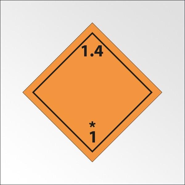 """[ATTENTE VISUELS] Signalisation de transport normalisée ADR - """"Matières et objets explosifs n°1-4"""""""