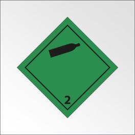 """[ATTENTE VISUELS] Signalisation de transport normalisée ADR - """"Gaz inflammables non-toxiques"""""""