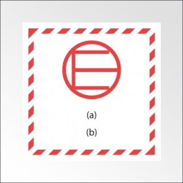 """Signalisation de transport normalisée - """"Quantité exceptée"""" - Vinyle adhésif - 100 x 100 mm"""
