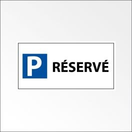 """Panneau de parking en aluminium """"P RESERVE"""""""