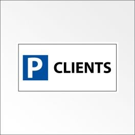 "Panneau de parking en aluminium ""P CLIENTS"""