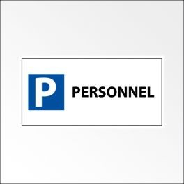 "Panneau de parking en aluminium ""P PERSONNEL"""