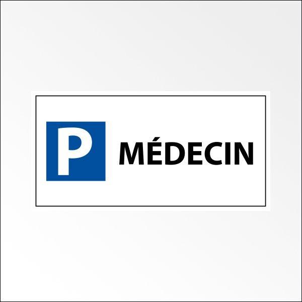 "Panneau de parking en aluminium ""P MEDECIN"""