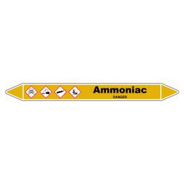 "Marqueur de Tuyauterie ""Ammoniac"" en Vinyle Laminé"