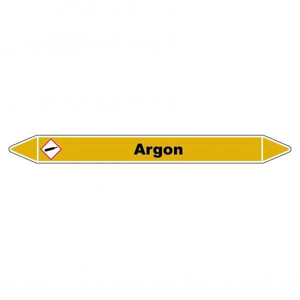 "Marqueur de Tuyauterie ""Argon"" en Vinyle Laminé"
