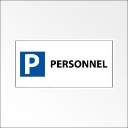 "Kit panneau de parking ""P PERSONNEL"""