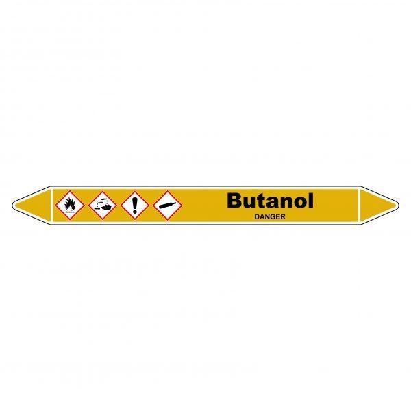 """Marqueur de Tuyauterie """"Butanol"""" en Vinyle Laminé"""
