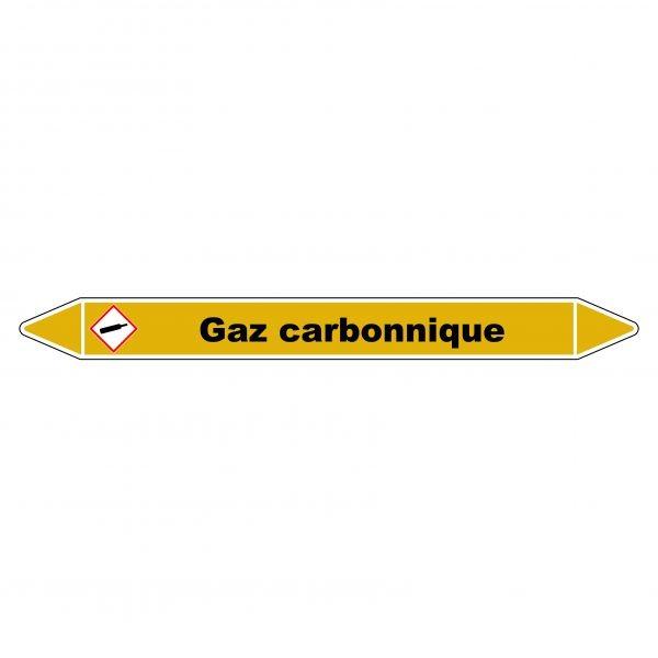 """Marqueur de Tuyauterie """"Gaz carbonique"""" en Vinyle Laminé"""