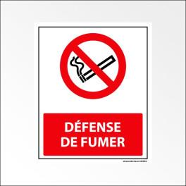 "Panneau d'interdiction ISO EN 7010 ""Défense de fumer"" P002"