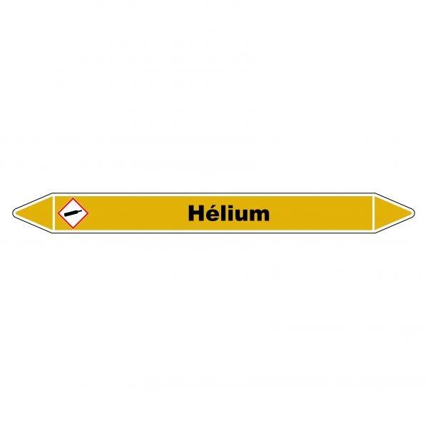 """Marqueur de Tuyauterie """"Hélium"""" en Vinyle Laminé"""