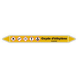 """Marqueur de Tuyauterie """"Oxyde d'éthylène"""" en Vinyle Laminé"""