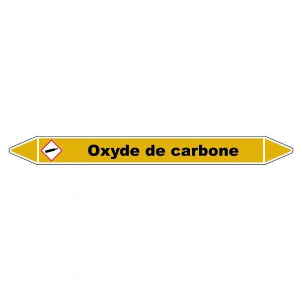 """Marqueur de Tuyauterie """"Oxyde de carbone"""" en Vinyle Laminé"""