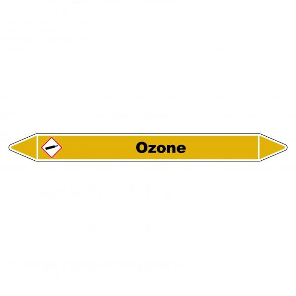 """Marqueur de Tuyauterie """"Ozone"""" en Vinyle Laminé"""